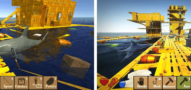 Играй Raft Survival Simulator На ПК 3