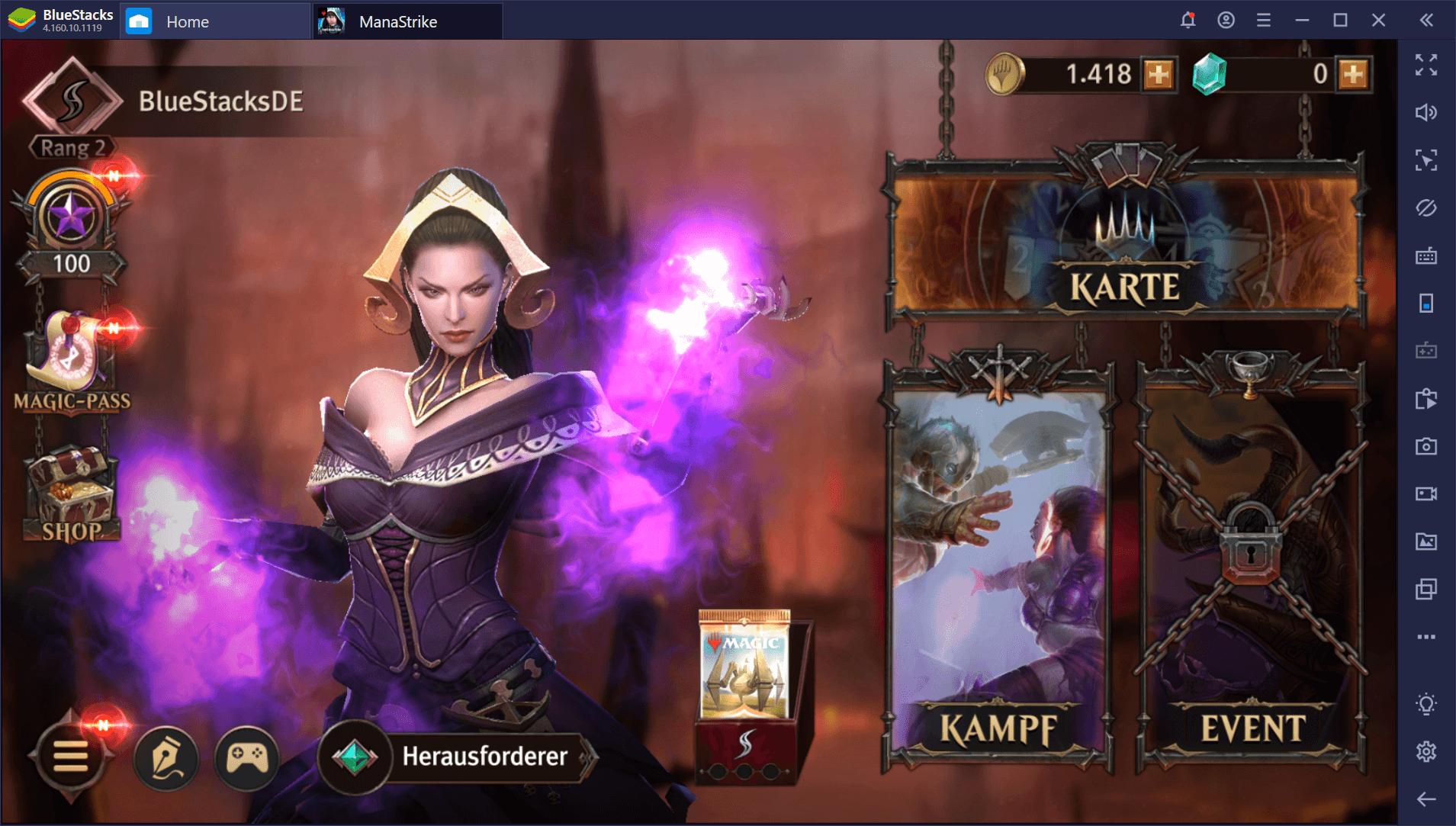 So spielst du Magic: ManaStrike auf BlueStacks