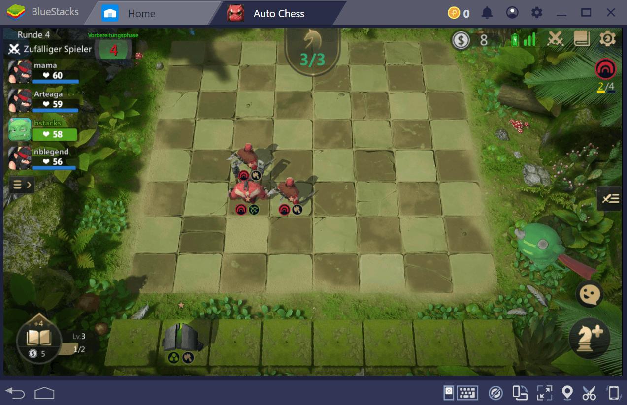 Der Schlachtablauf in Auto Chess