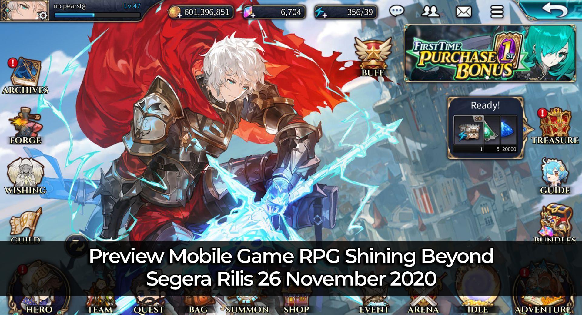 Preview Mobile Game RPG Shining Beyond, Segera Rilis 26 November 2020