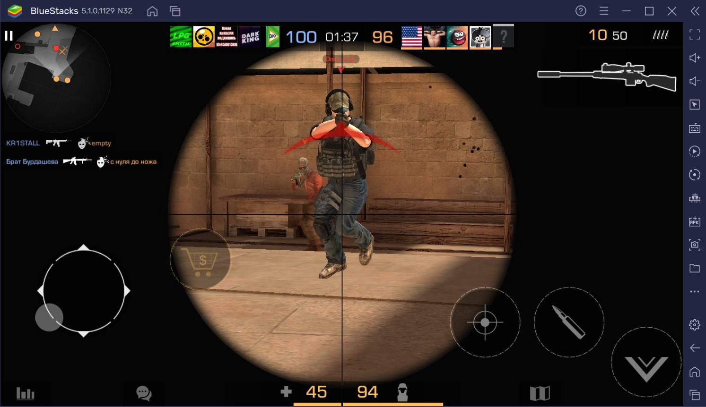 Как играть за снайпера в Standoff 2 на ПК?