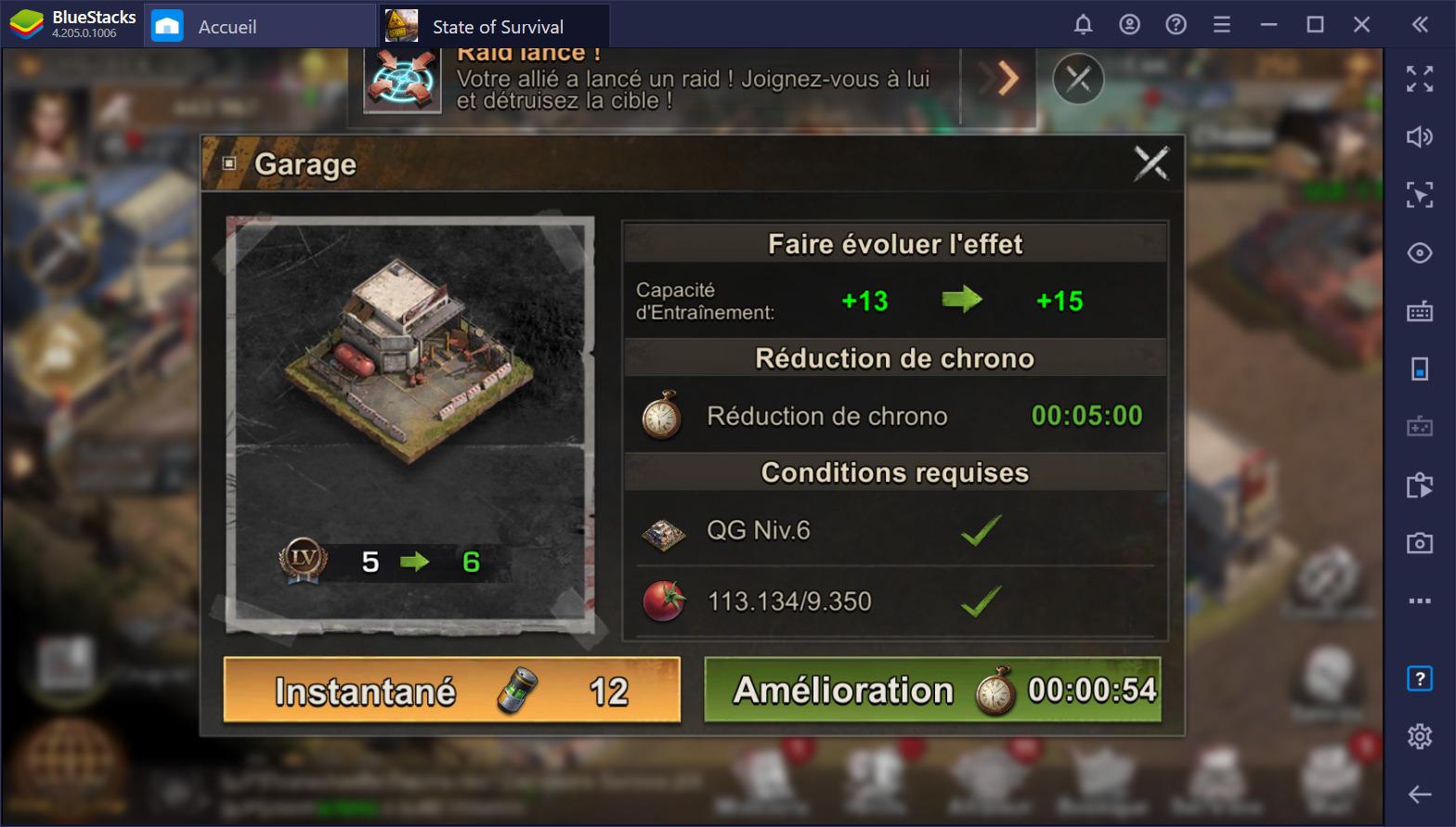 State of Survival sur PC : construire une garnison pour survivre aux zombies de l'apocalypse