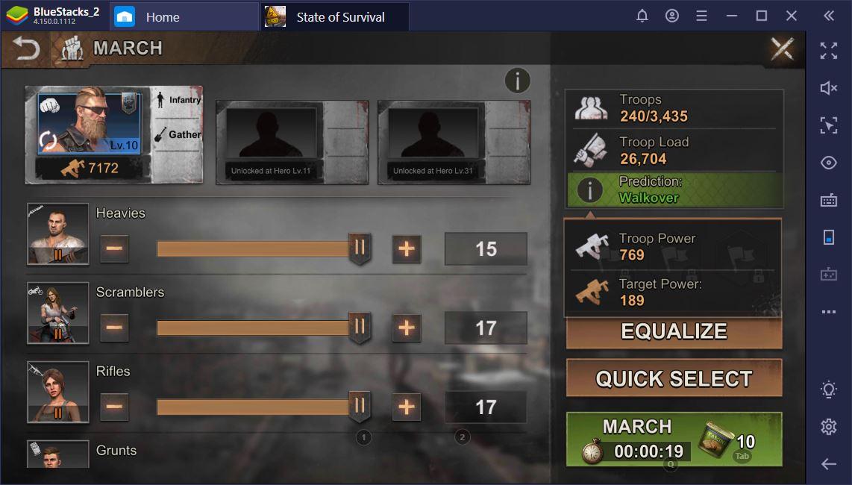 State of Survival trên PC: Cách xây dựng và quản lý quân đội