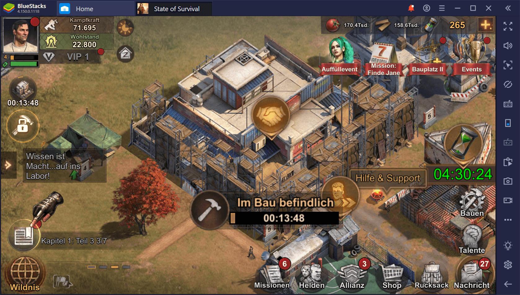Anfängerguide für State of Survival auf dem PC