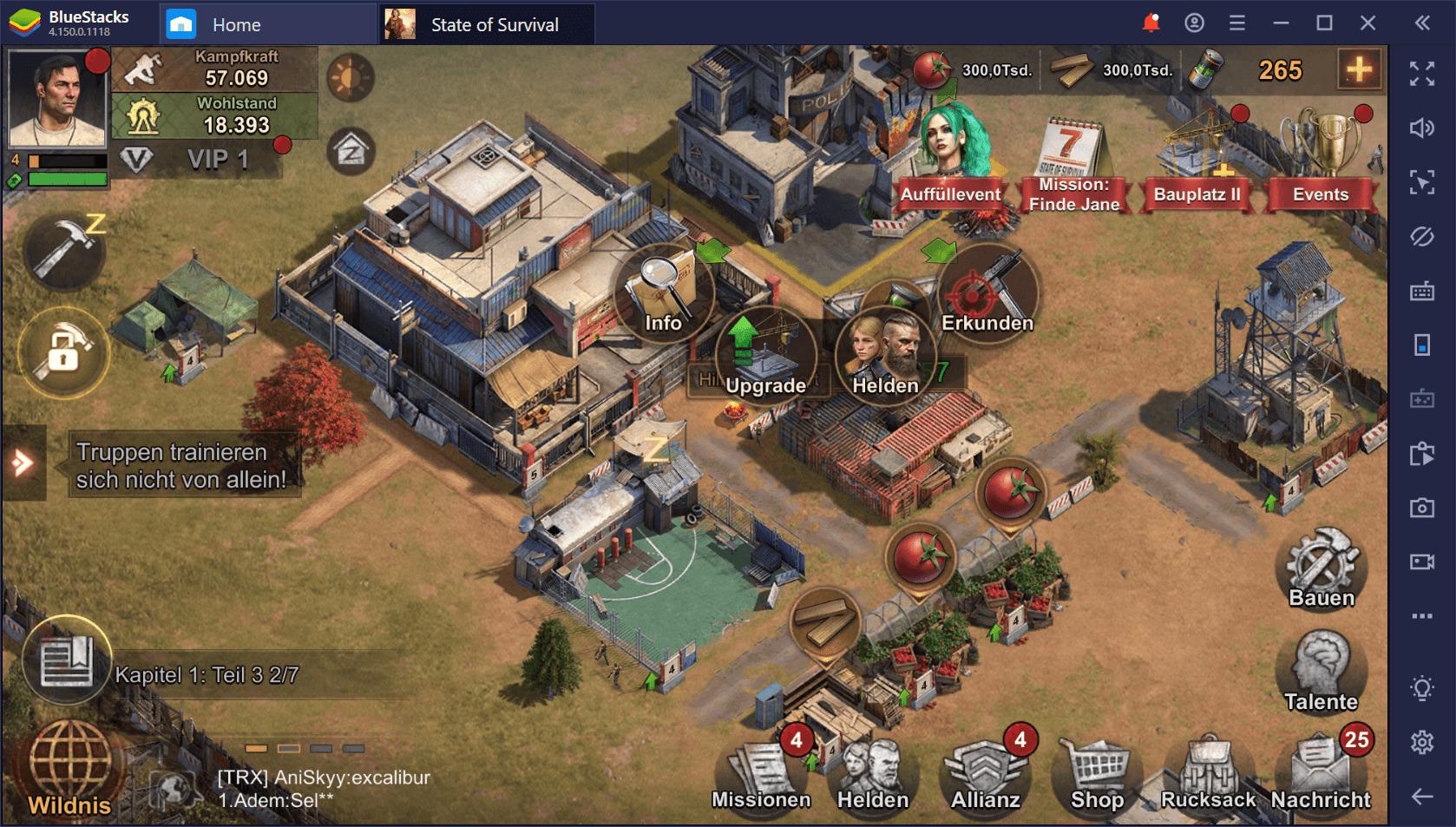 State of Survival auf dem PC: Mit BlueStacks gewinnst du in diesem Zombiespiel