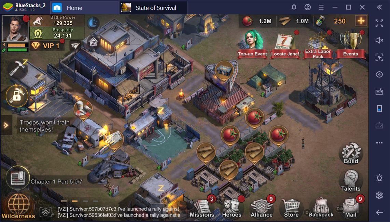 State of Survival trên PC: Cách phát triển một căn cứ hùng mạnh