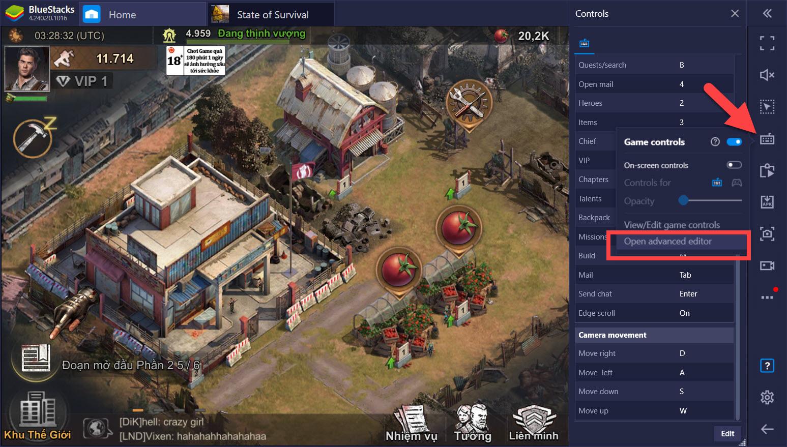 Lợi ích từ Game Controls khi chơi State of Survival với BlueStacks trên PC