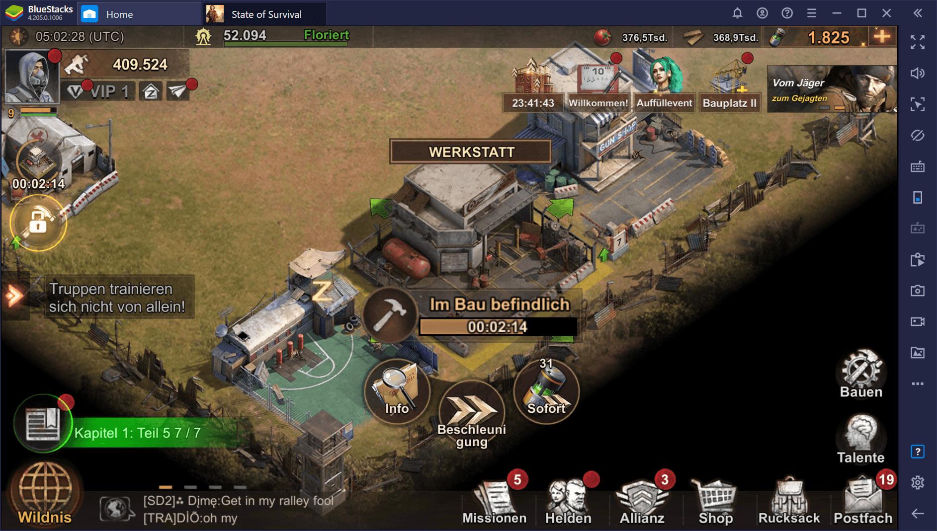 State of Survival auf dem PC: Bau eine Garnison, um der Zombie-Apokalypse standzuhalten