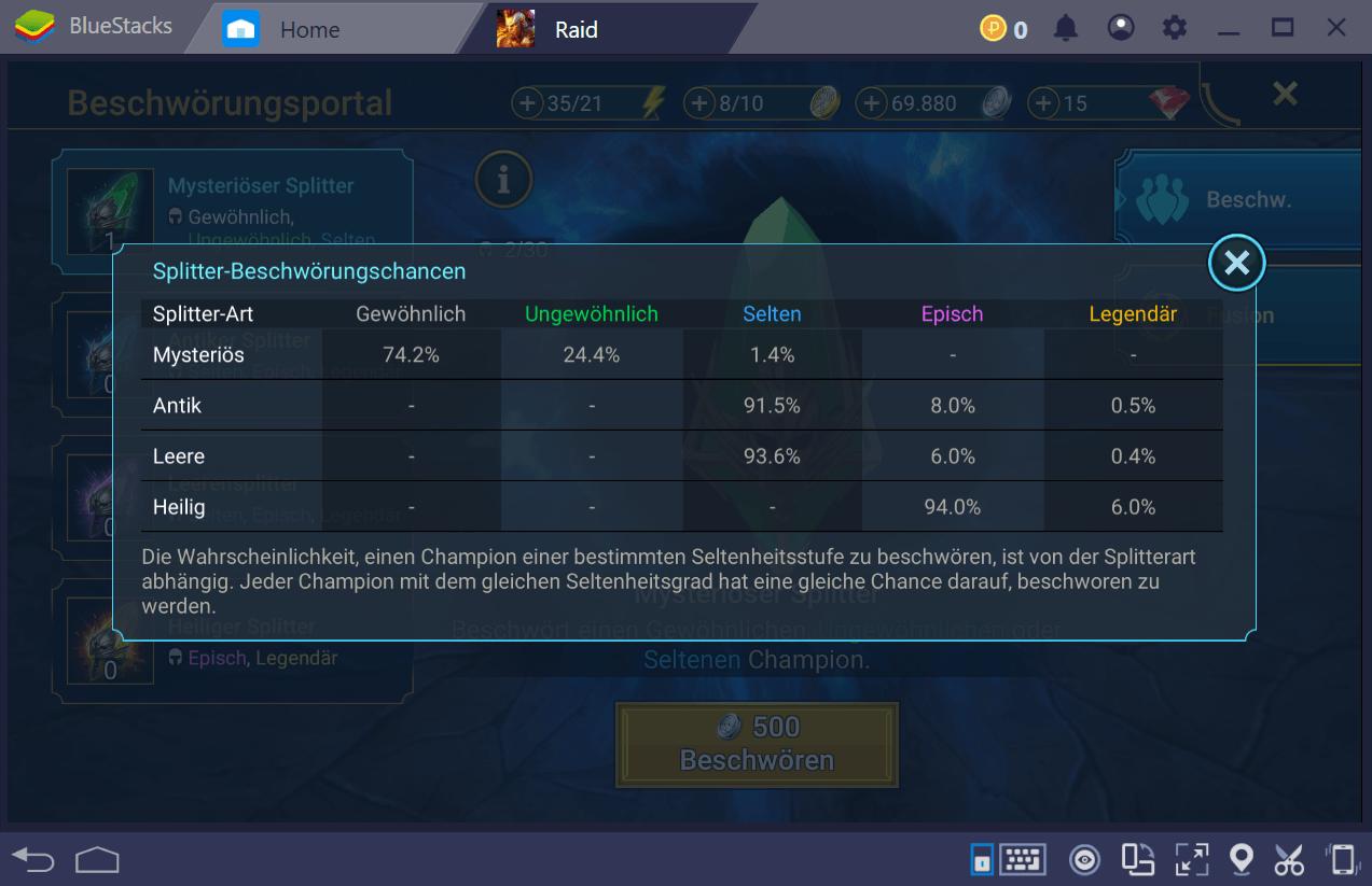 Wie du Splitter erwirbst und dein Team erweiterst in RAID: Shadow Legends