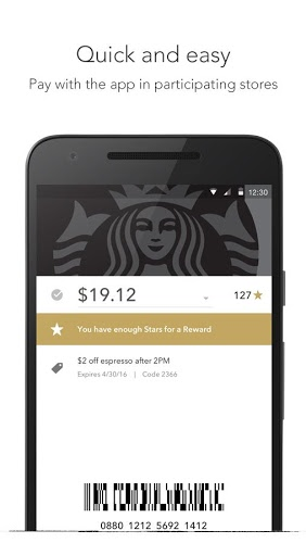 Play Starbucks app on pc 4
