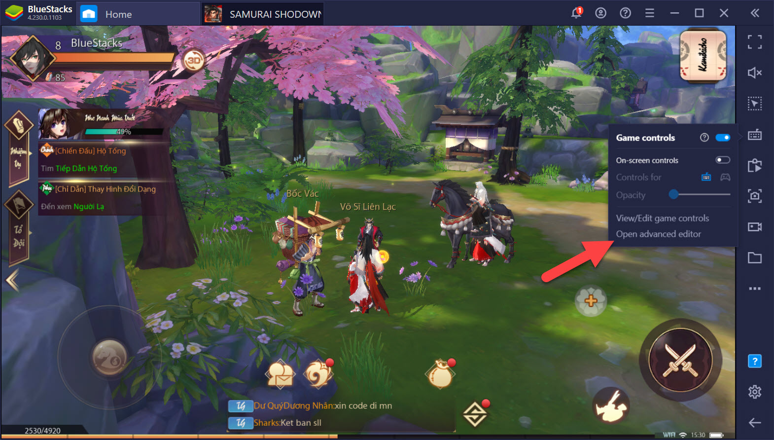 Tối ưu Combo trong SAMURAI SHODOWN: The Legend of Samurai với Game Controls của BlueStacks