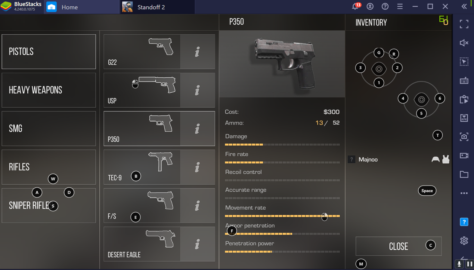 Standoff 2 with BlueStacks: A Weapon Guide for PC