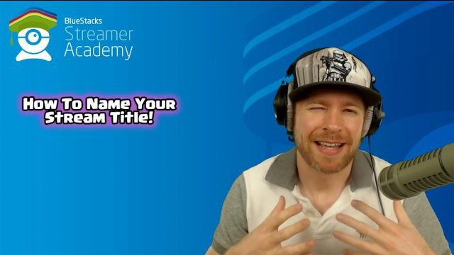 How to name your stream title