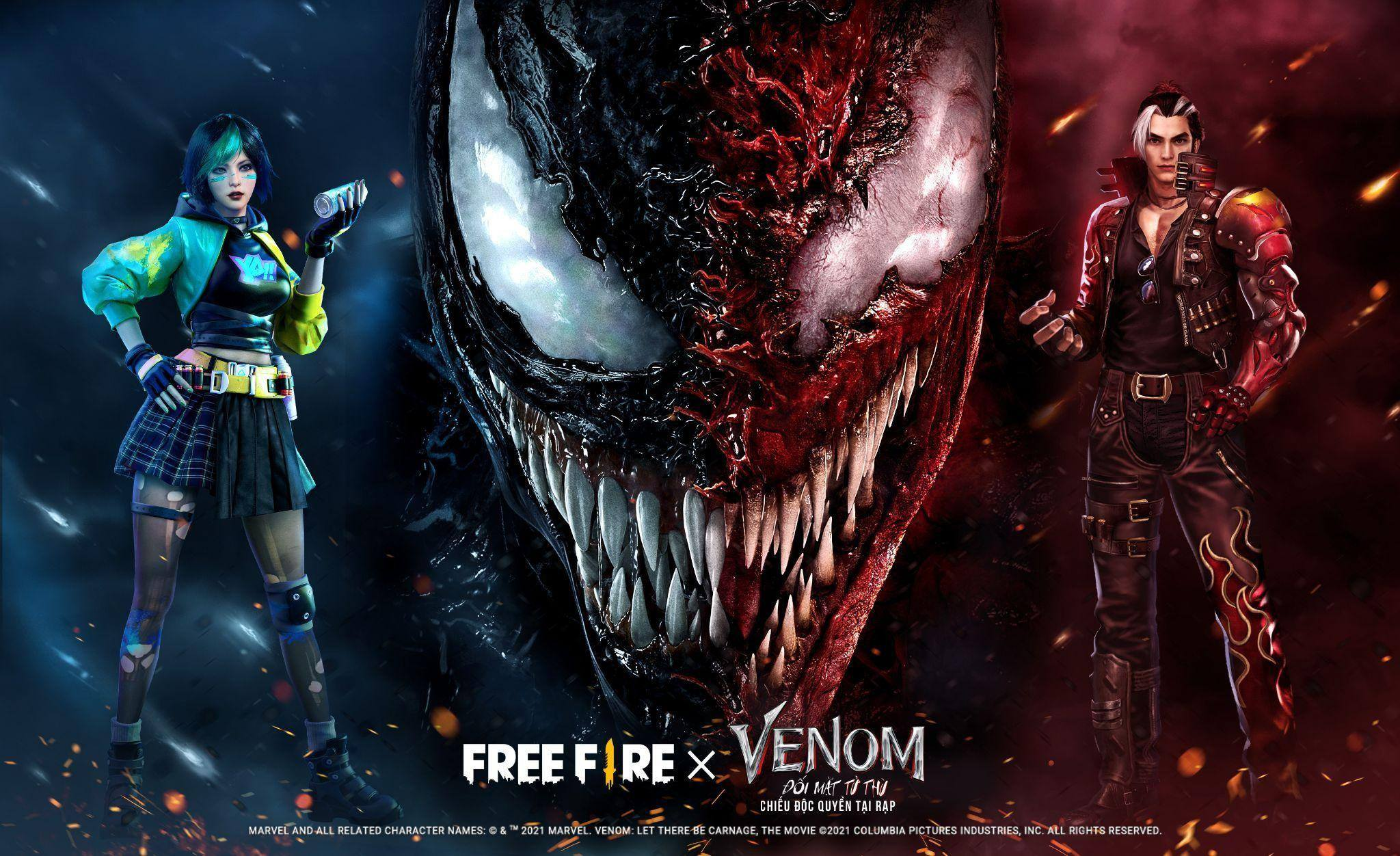 Garena Free Fire: Trải nghiệm trận chiến hỗn loạn từ sự kiện hợp tác phim Venom: Đối Mặt Tử Thù