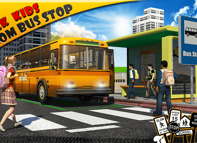 Play School bus Driver 3D on PC 2