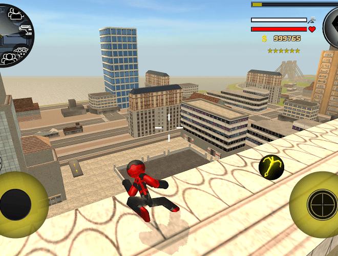 Play Stickman Rope Hero on PC 7