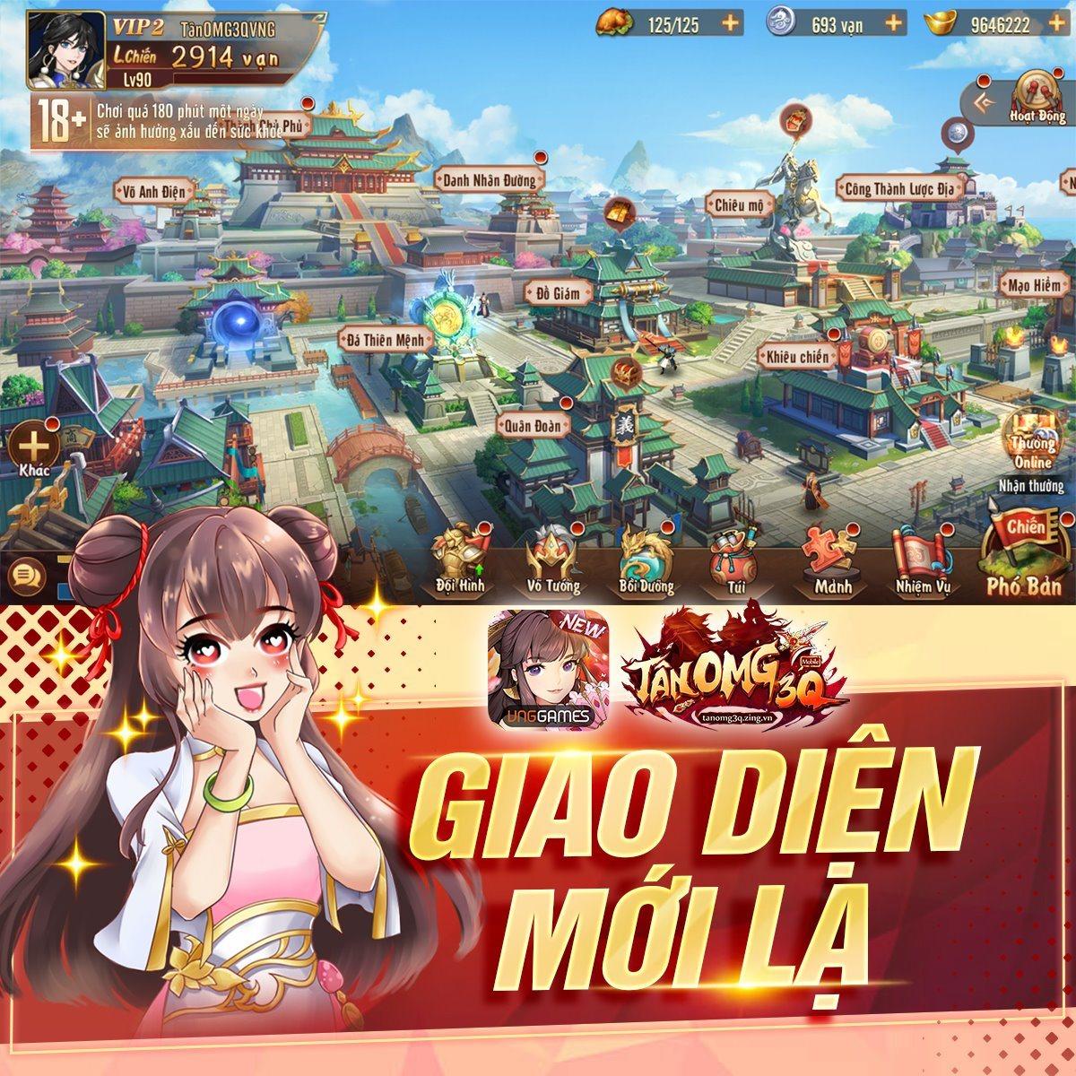 Game mobile Tân OMG3Q mở đăng ký sớm với nhiều phần quà hấp dẫn