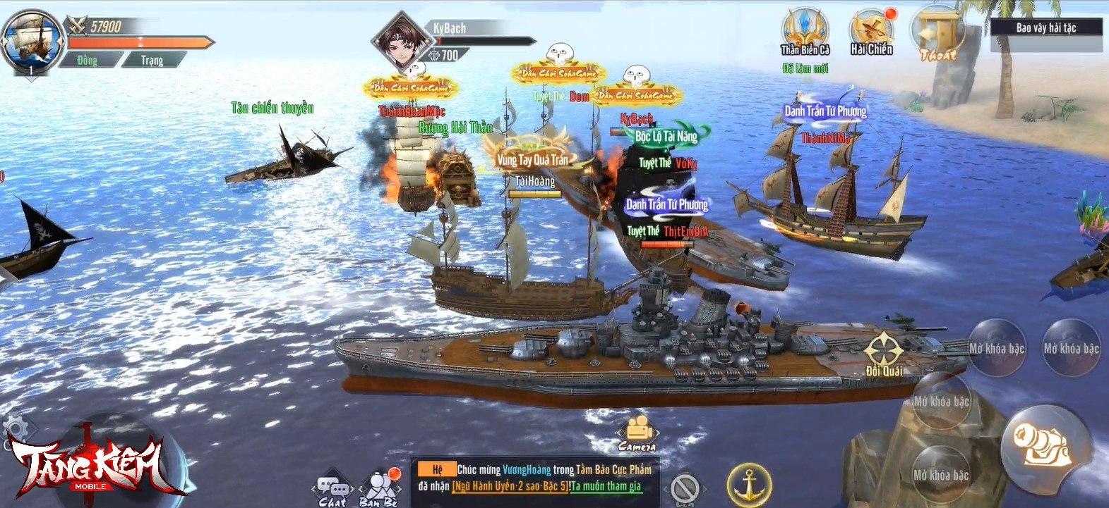 Tàng Kiếm Mobile: Game kiếm hiệp độc lạ với tính năng thủy chiến