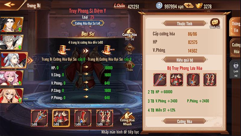 Bí kíp tăng lực chiến hiệu quả khi chơi Tân OMG3Q VNG