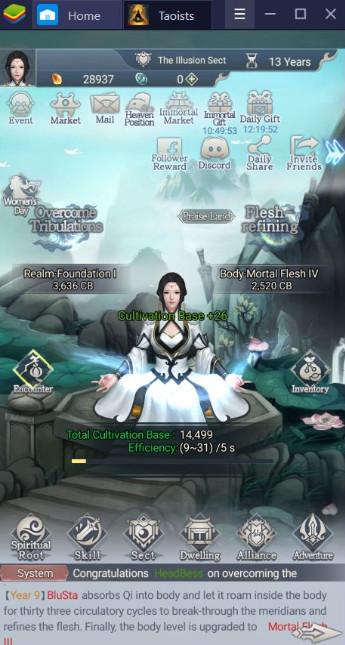 Khám phá thế giới võ thuật Immortal Taoists với BlueStacks
