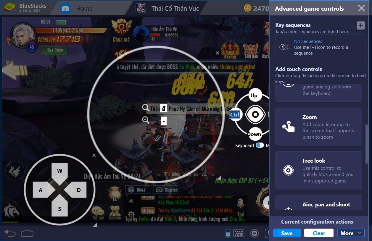 Thiết lập Game Controls tối ưu khi chơi Thái Cổ Thần Vương với BlueStacks