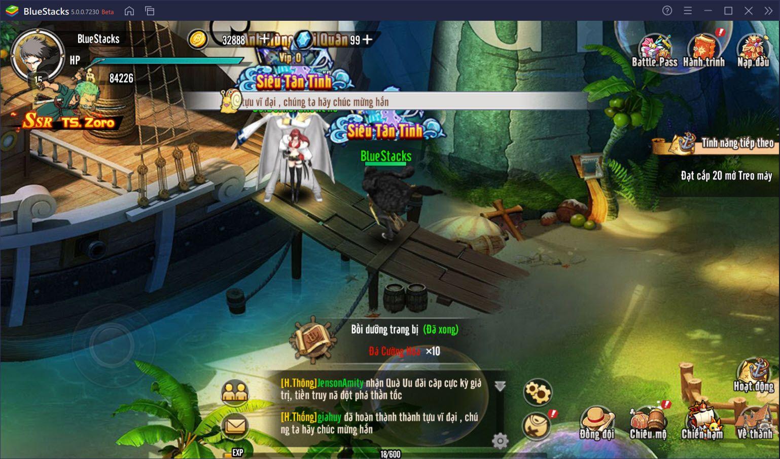 Thưởng thức Thời Đại Hải Tặc, tựa game One Piece đặc sắc cùng BlueStacks