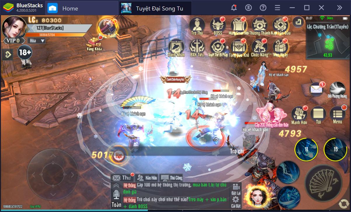 Thiết lập Game Controls, tối ưu mọi cử chỉ trong Tuyệt Đại Song Tu