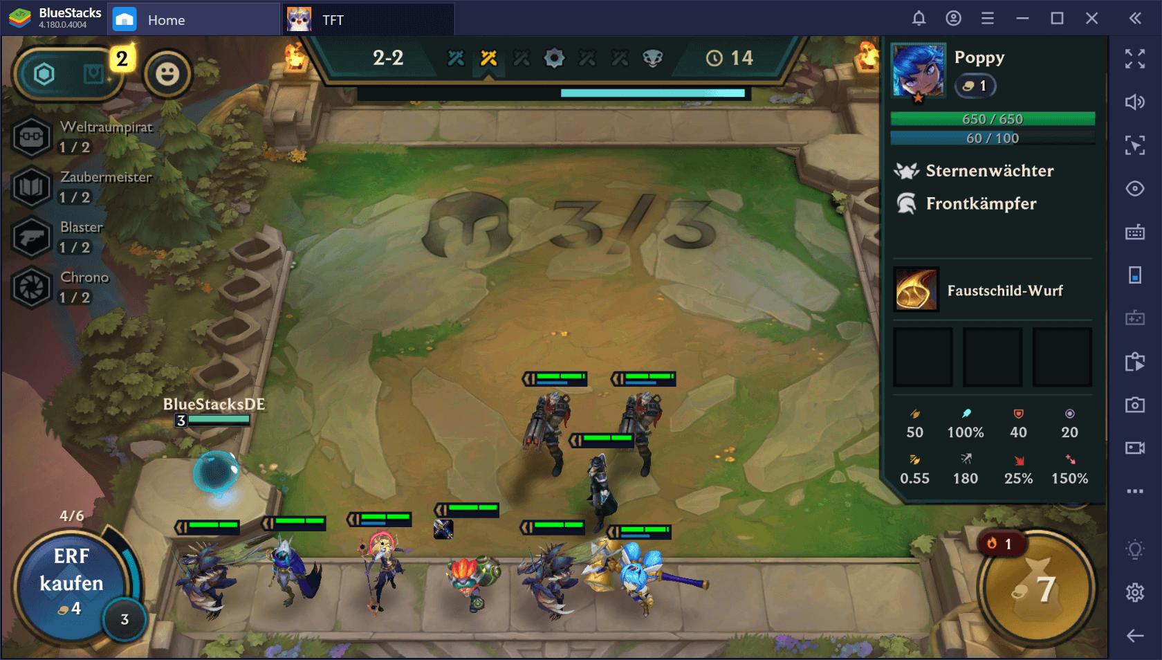 Erste Schritte in Teamfight Tactics auf BlueStacks