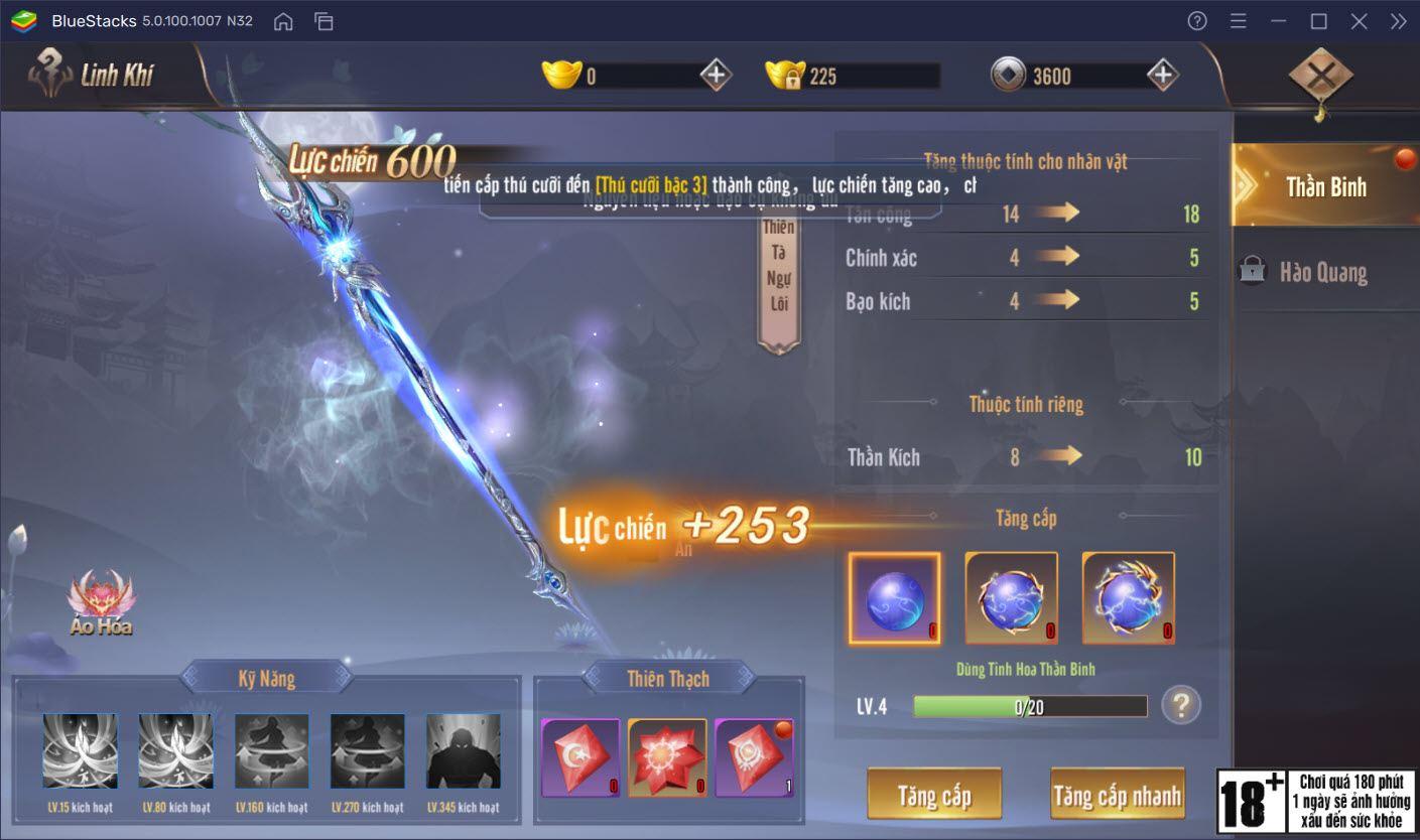 Cách nâng cấp nhân vật trong Tân Giang Hồ Truyền Kỳ