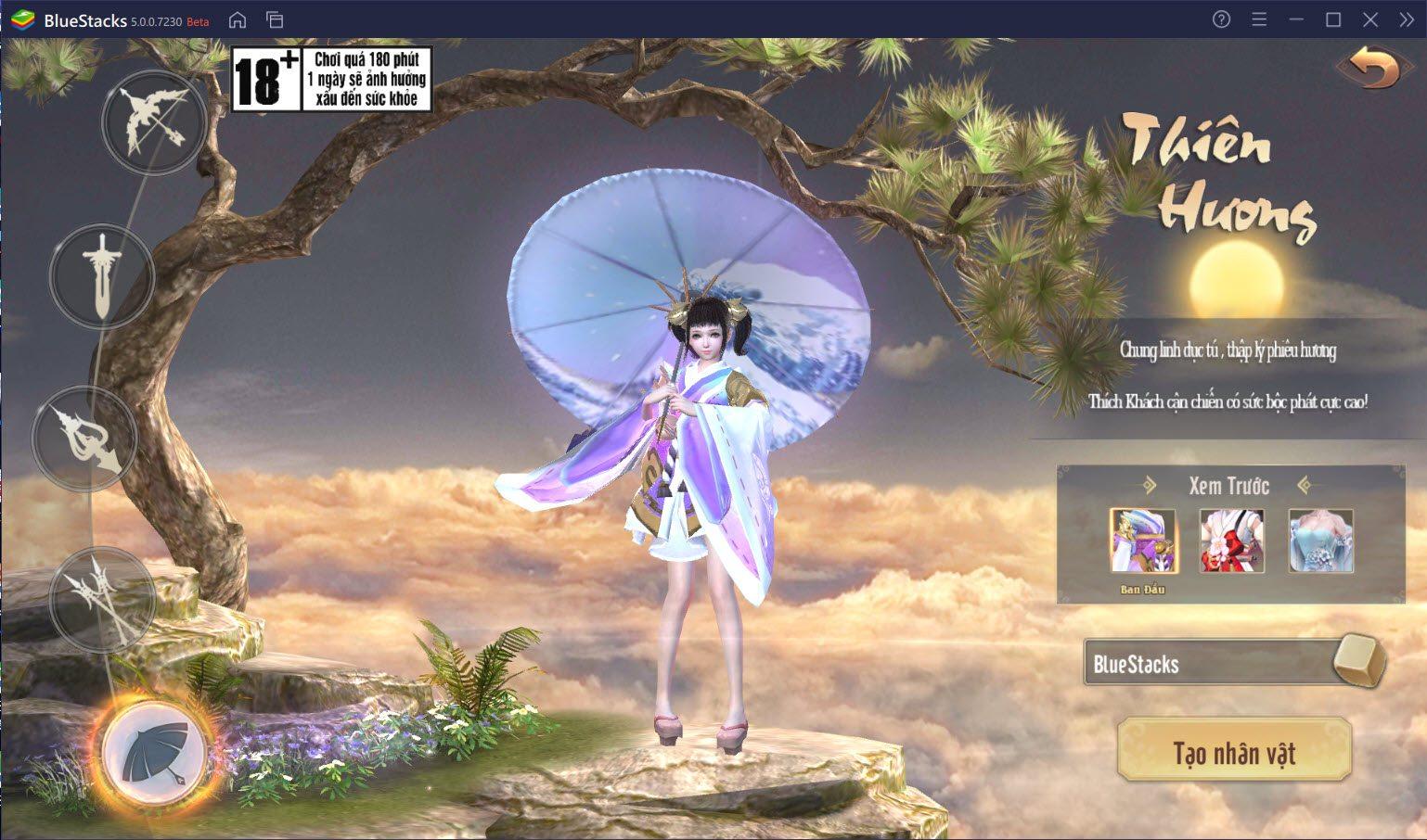 Chơi Tân Giang Hồ Truyền Kỳ trên PC cùng BlueStacks