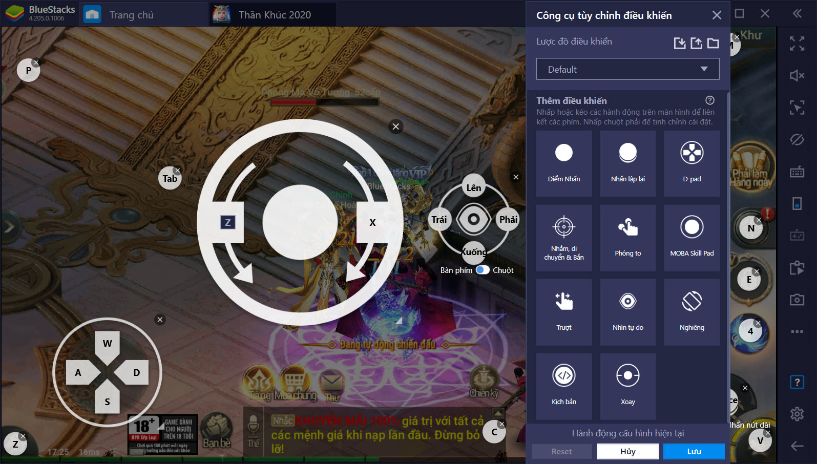 Thiết lập Game Controls tối ưu PvP trong Thần Khúc 2020