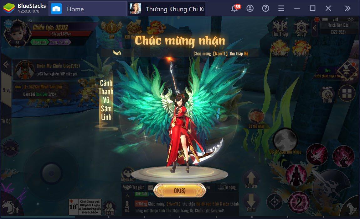 Du ngoạn thế giới kiếm hiệp kỳ ảo Thương Khung Chi Kiếm cùng BlueStacks