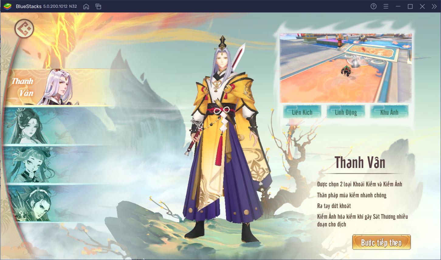Cùng BlueStacks trải nghiệm đồ họa đặc sắc của Tuyệt Kiếm Cổ Phong