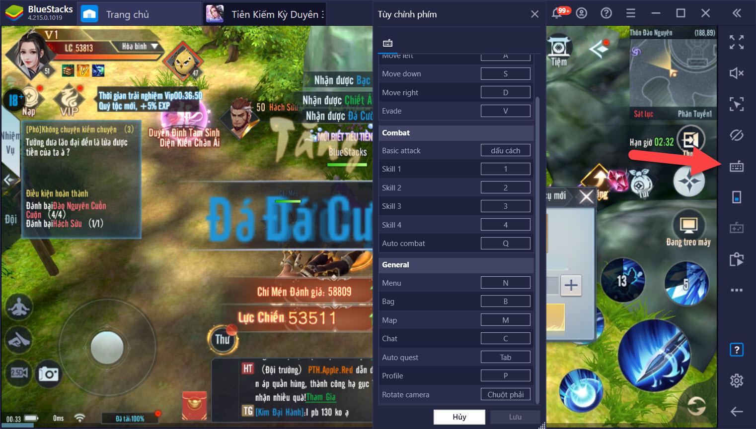 Thiết lập Game Controls, hỗ trợ chơi Tiên Kiếm Kỳ Duyên 3D trên PC