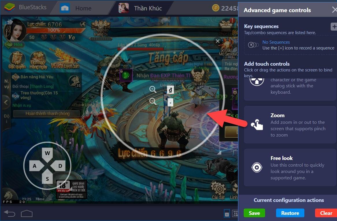 Thiết lập Game Controls khi chơi Thần Khúc Mobile