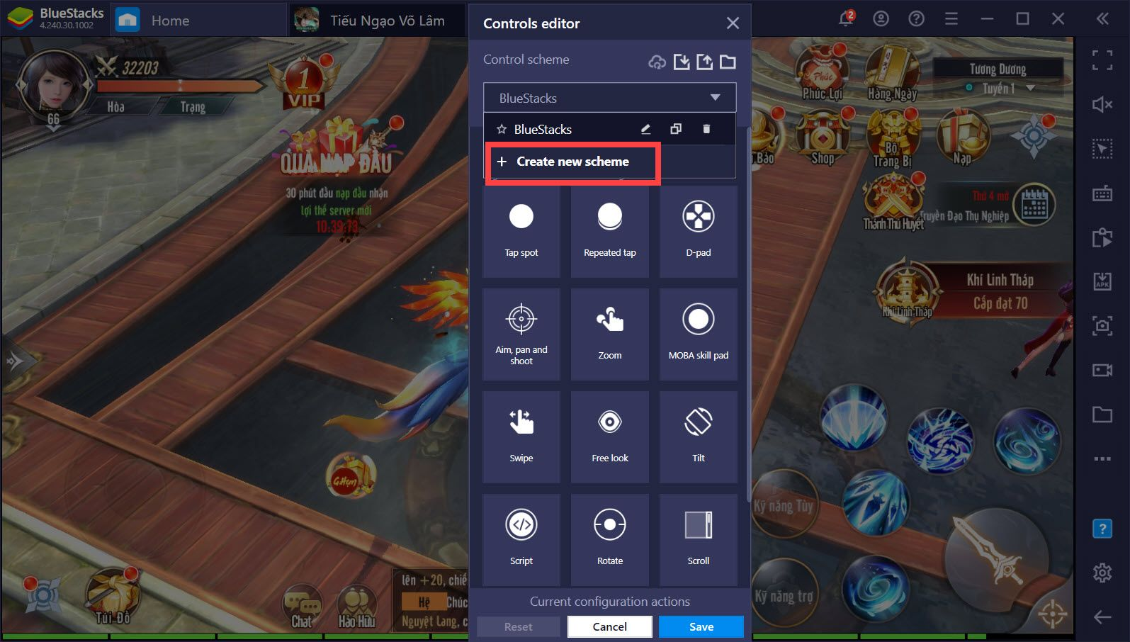 Bí kíp PK cực đỉnh trong Tiếu Ngạo Võ Lâm với công cụ Game Controls