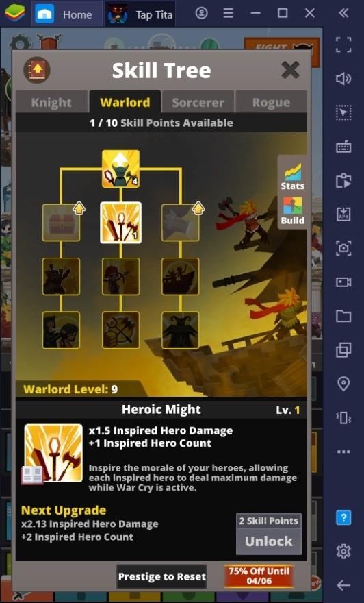 كيفية زيادة الضرر في لعبة Tap Titans 2