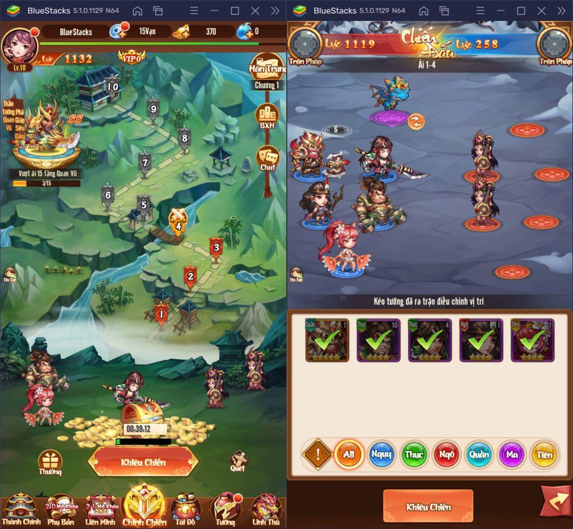 Chơi game thẻ bài chiến Tam Quốc Ca Ca trên PC với BlueStacks