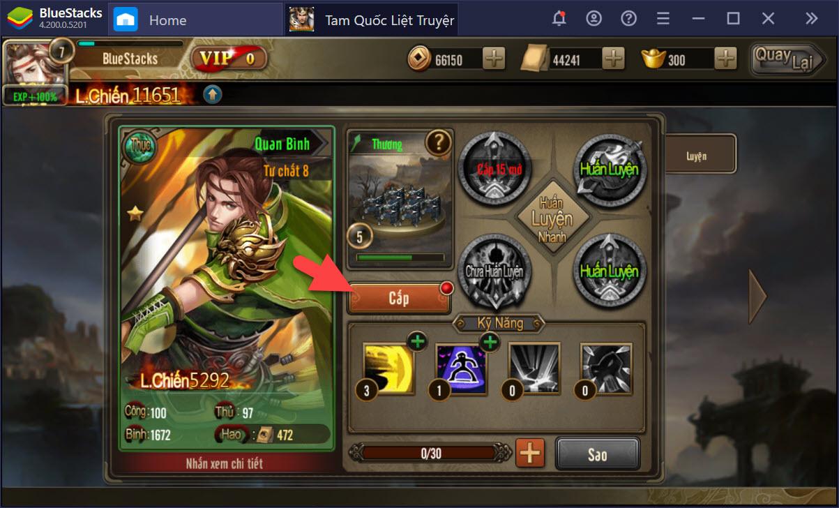 Tam Quốc Liệt Truyện: Hướng dẫn toàn tập hệ thống nâng cấp Dũng tướng