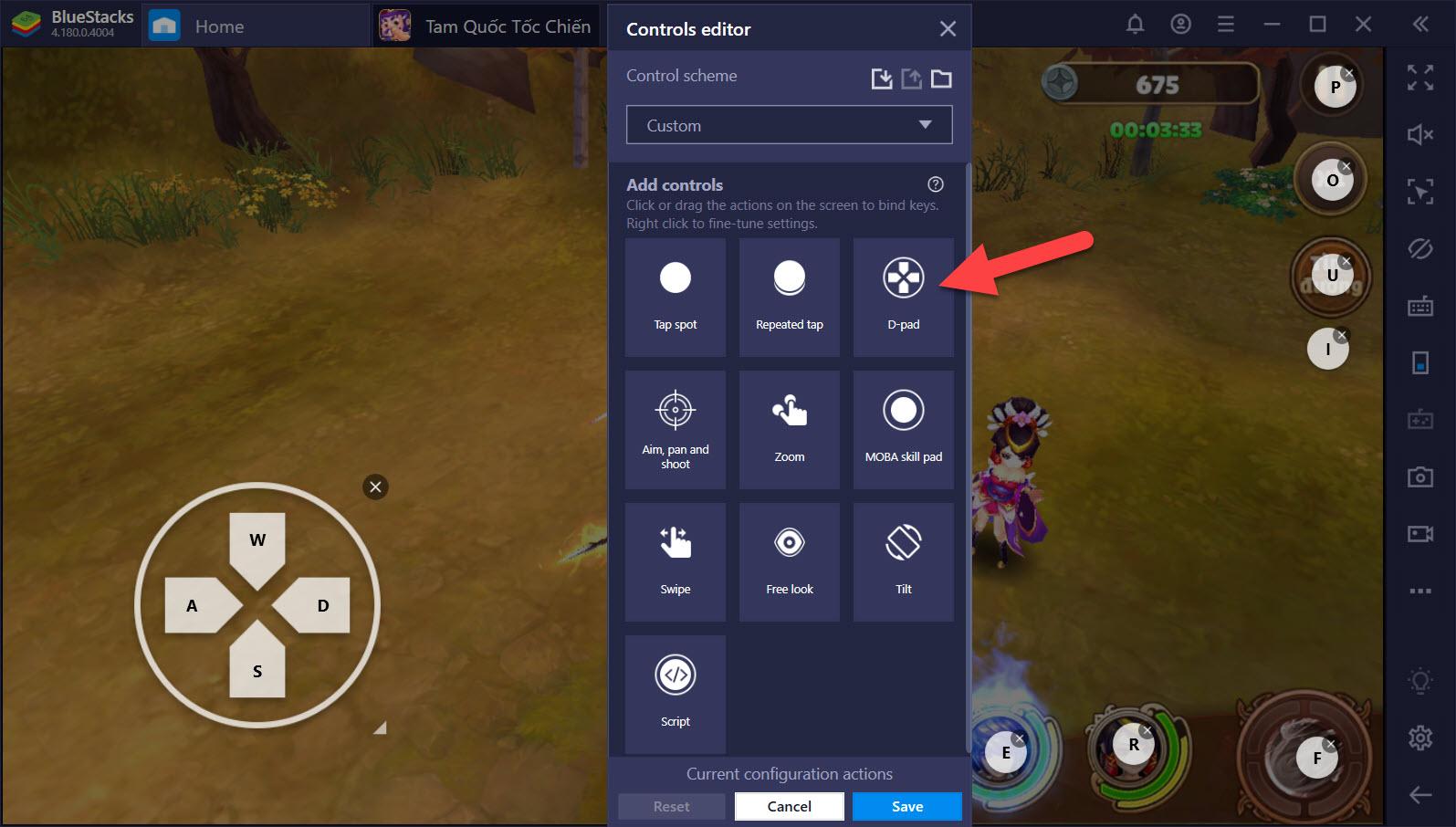 Thiết lập Game Controls, tối ưu kỹ năng tối thượng trong Tam Quốc Tốc Chiến