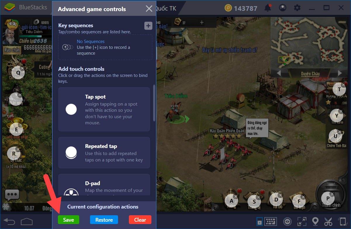 Thiết lập Game Controls khi chơi Tam Quốc Truyền Kỳ Mobile