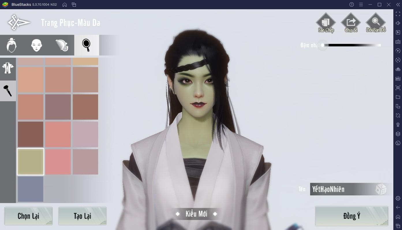 Chơi Nhất Mộng Giang Hồ với BlueStacks: Tạo nhân vật chi tiết đến từng đường nét