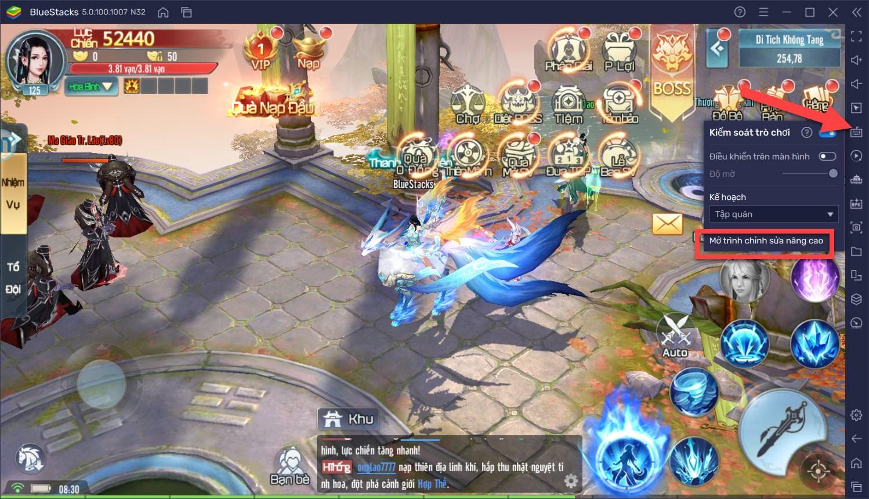 Thiết lập Keymapping khi chơi Tru Tiên – Thanh Vân Chí với BlueStacks