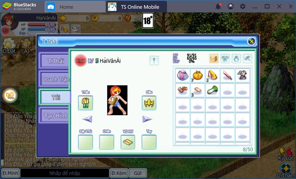 Cách chơi cơ bản TS Online Mobile dành cho người mới