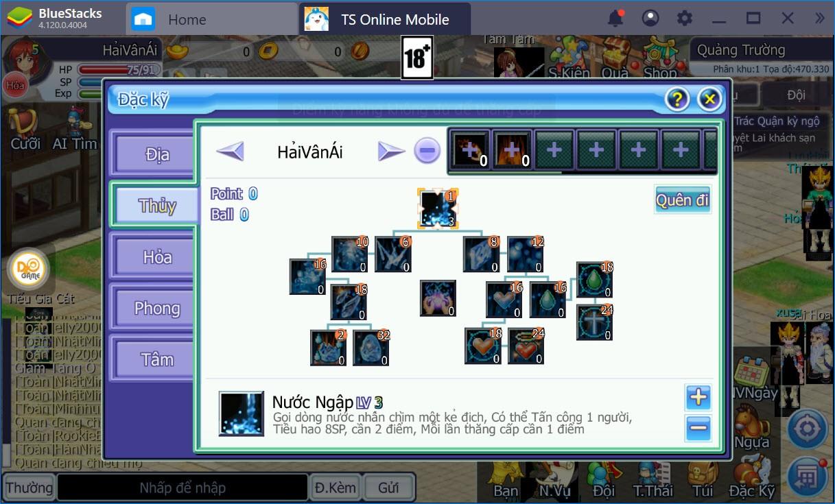 Cách build nhân vật, tìm hiểu các chỉ số trong TS Online Mobile