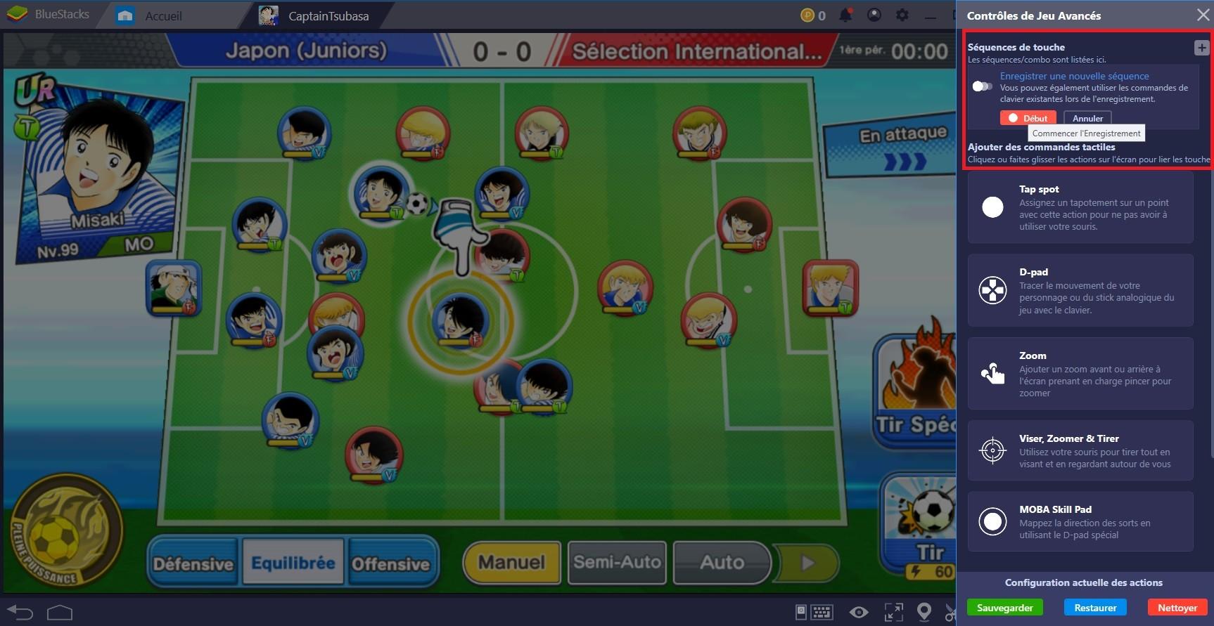 Captain Tsubasa : Dream Team, marquer un but à coup sûr grâce à Combo Key