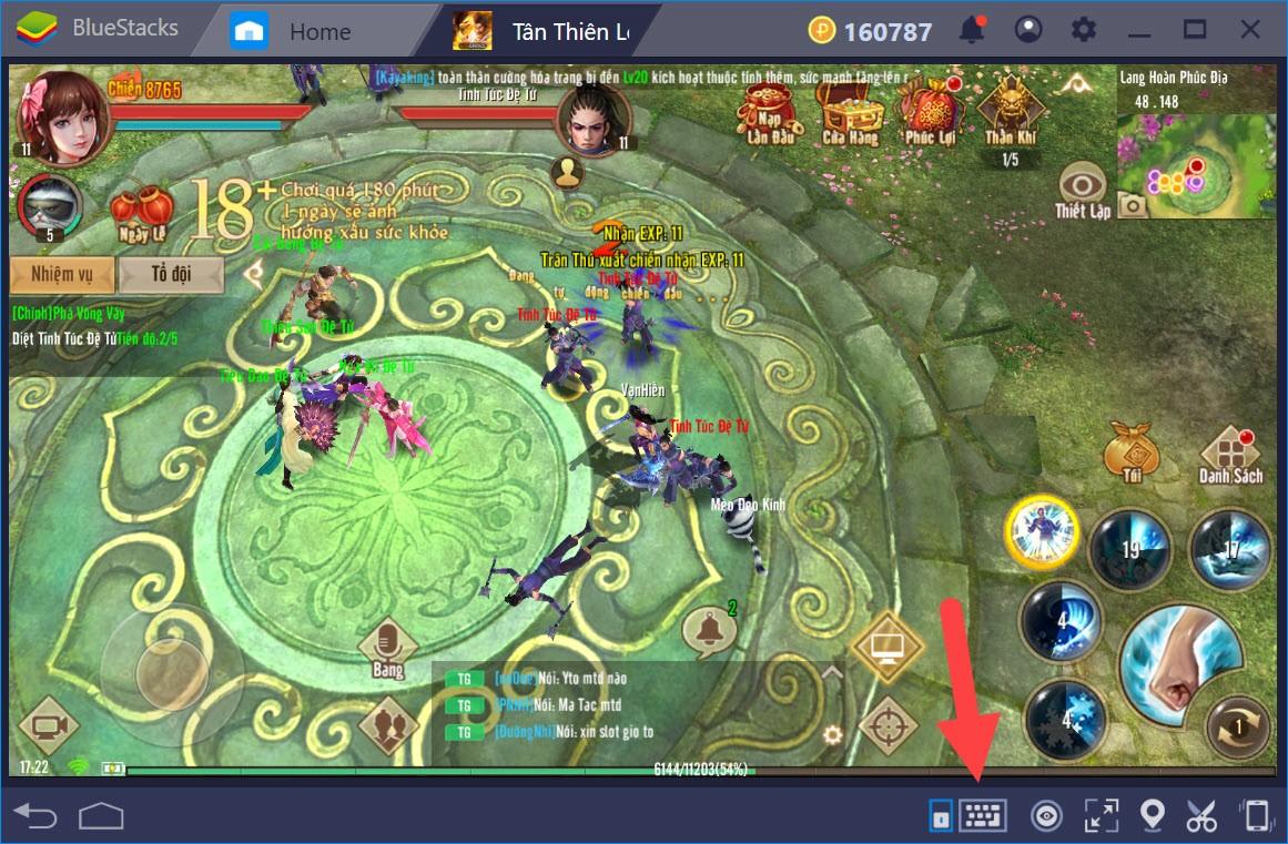 Thiết lập Game Controls khi chơi Tân Thiên Long Mobile với BlueStacks