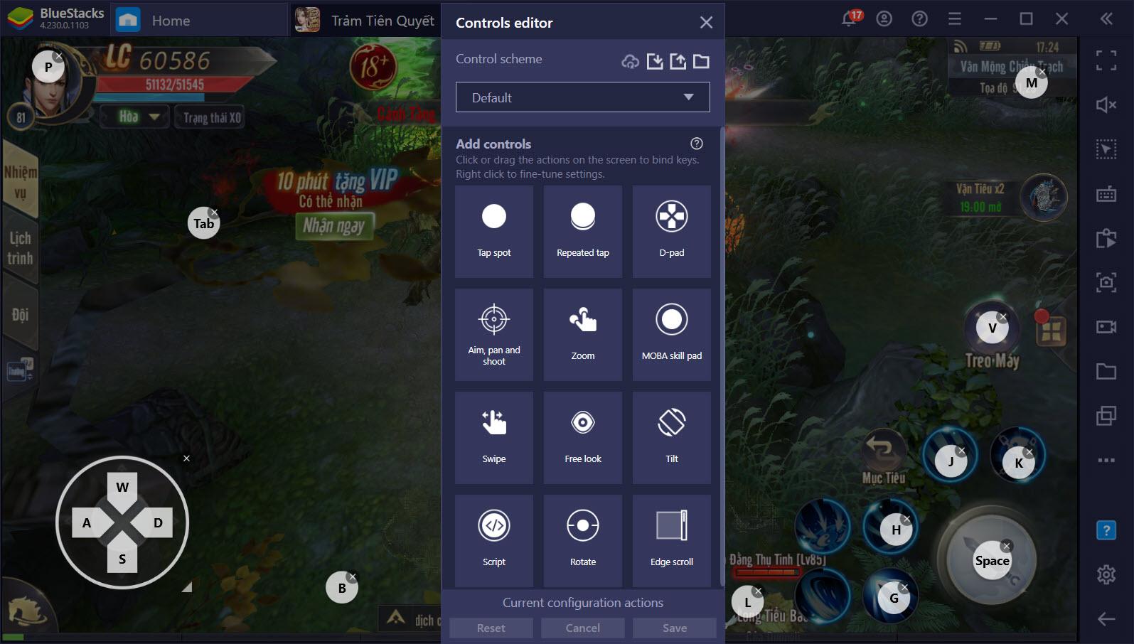 Chơi Trảm Tiên Quyết VTC trên PC hiệu quả hơn với Game Controls