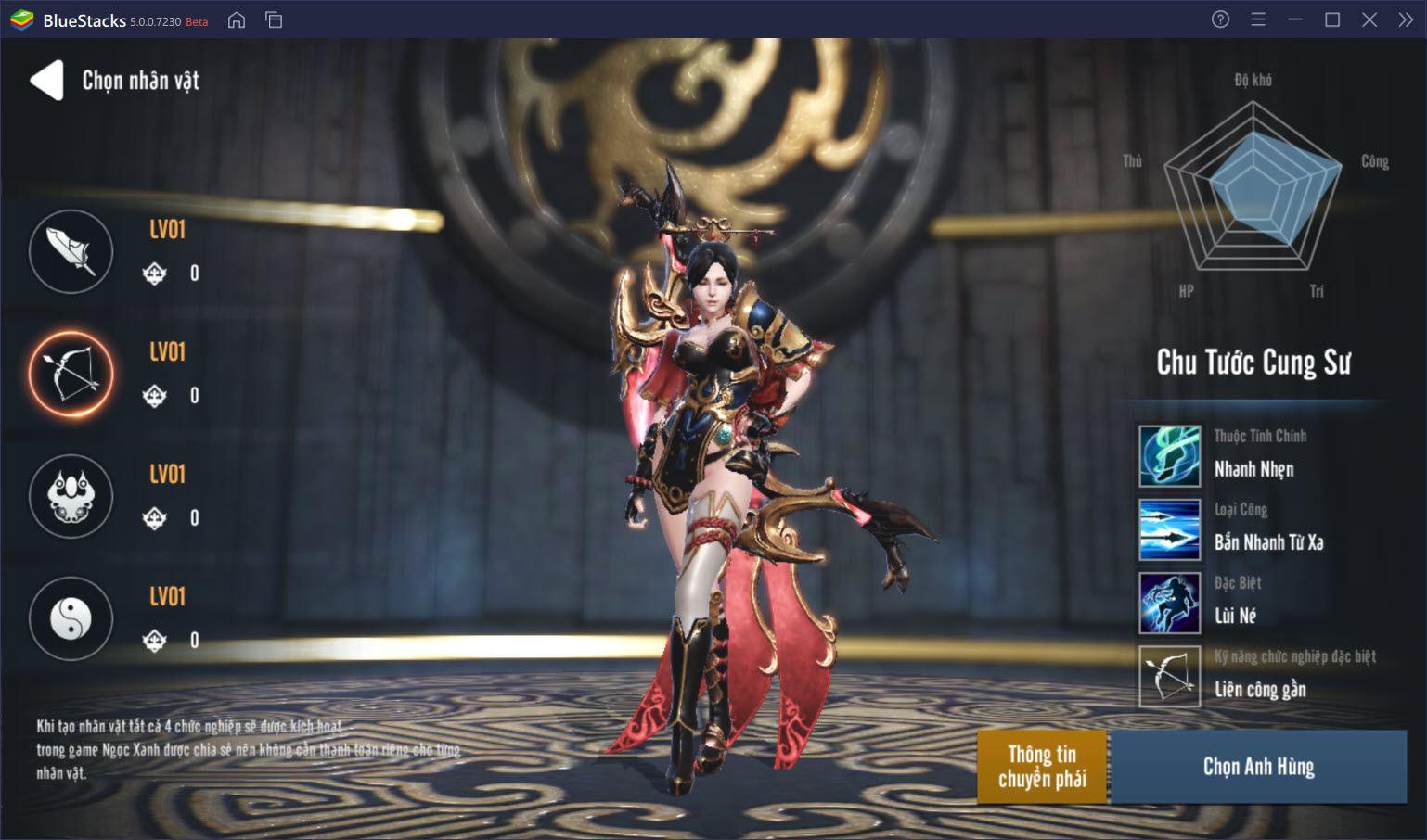 Gặp gỡ dàn nhân vật trong Four Gods M – Tứ Hoàng Mobile