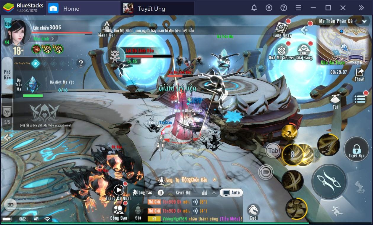 Tuyết Ưng VNG: Hướng dẫn đi phụ bản khiêu chiến boss, lên cấp cực nhanh